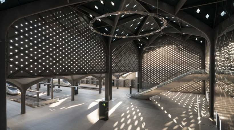 Foster + Partners' railway stations in Saudi Arabia feature interiors that provide respite from the summer climate
