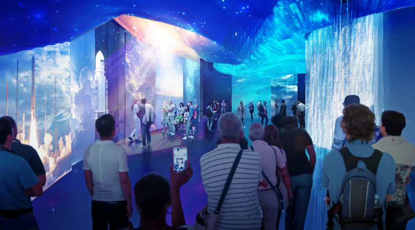 A look inside the France Pavilion for Expo 2020