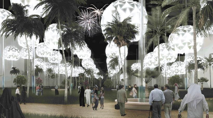 Glowing solar-powered orbs win Masdar design prize
