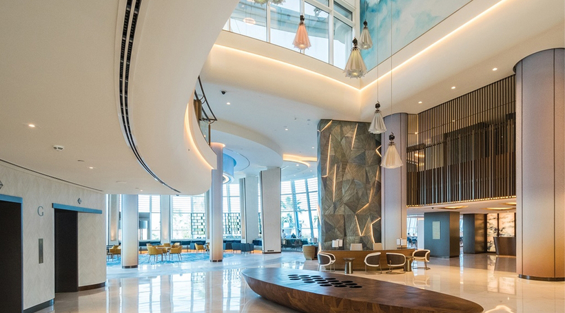 We can see the interiors of Jumeirah Beach Hotel again as it reopens for business