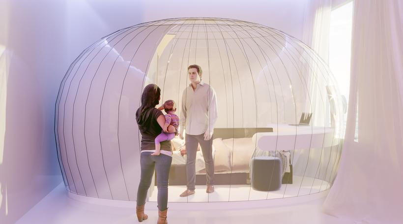 ArchMelar Design Studio creates inflatable bubble tent for COVID-19 competition