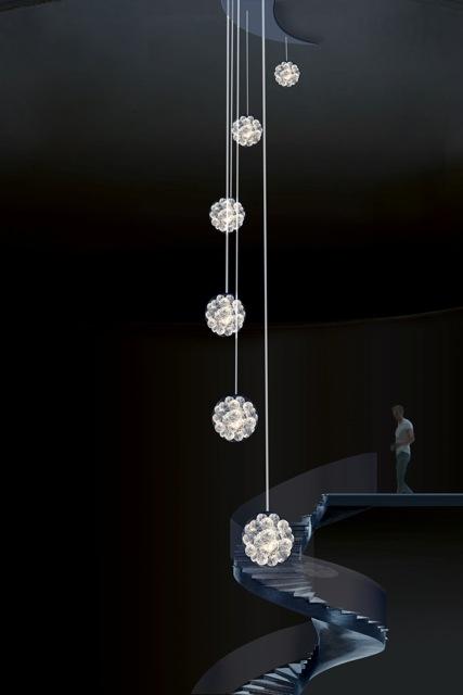 Bruce Munro, Quantum Pop Cascade chandelier
