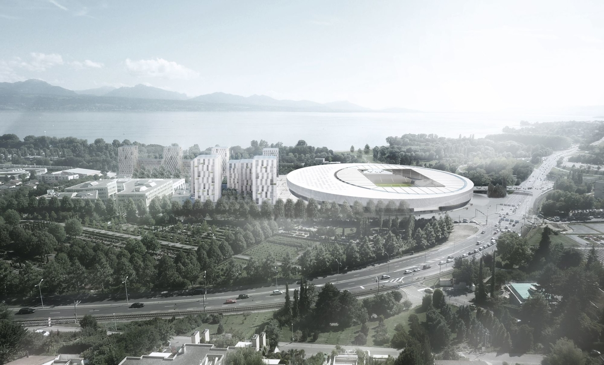 Pictures: Space-age stadium on the shores of Lake Geneva