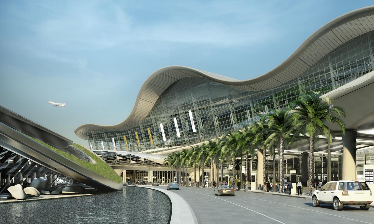 Abu Dhabi International Airport, Kohn Pedersen Fox, KPF, Midfield Terminal