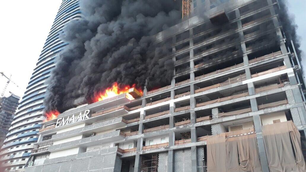 Civil Defence, Dubai, Dubai Police, Fire, Fountain Views