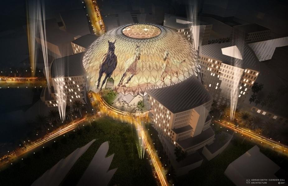 Adrian Smith + Gordon Gill Architecture, Al Wasl, Al Wasl Plaza, Architecture, Architecture news, Design, Dome for Expo 2020, Dubai, Dubai architecture news, Dubai Expo 2020, Expo 2020, Expo 2020 architecture, Expo 2020 projects, National Pavilion, World fair