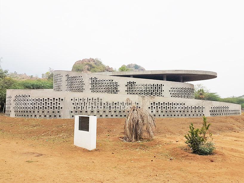 Architecture, Concrete structure, Contemporary architecture, Contemporary architecture india. Made in Earth, Design, India, Local materials, Music and Art centre India. India architecture, Naples, Screens