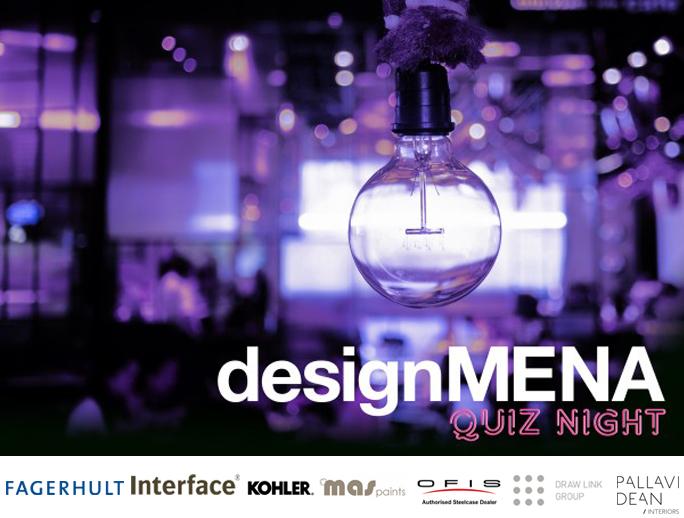 DesignMENA Quiz Night, Draw Link Group, Fagerhult, Interface, Kohler, MAS Paints, OFIS, Pallavi Dean Interiors, Steelcase