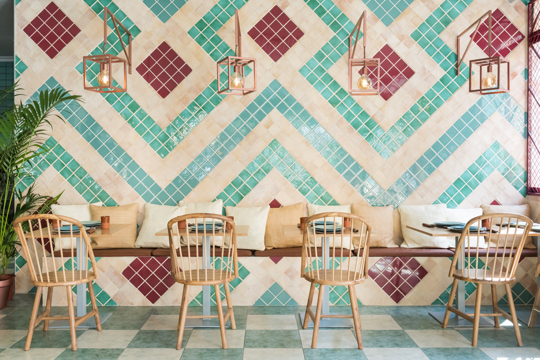 Ceramic tiles at the forefront of Masquespacio-designed restaurant in Valencia