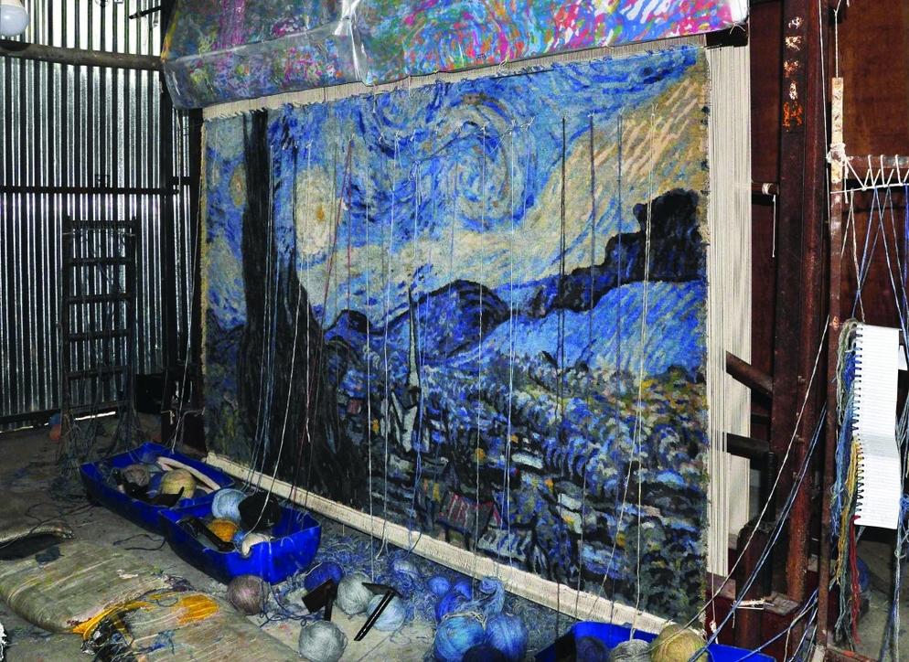 Art, Carpet weaving, Design, Dubai, Dubai Design District, Samovar Carpets, Van Gogh Alive