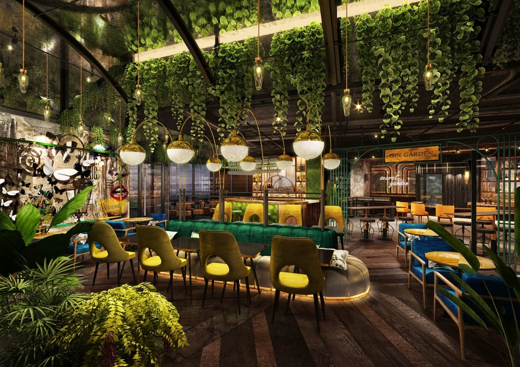 The London Project, Bluewater Island, Dubai, F&B design, Yamjam, Julian Peter Floyd