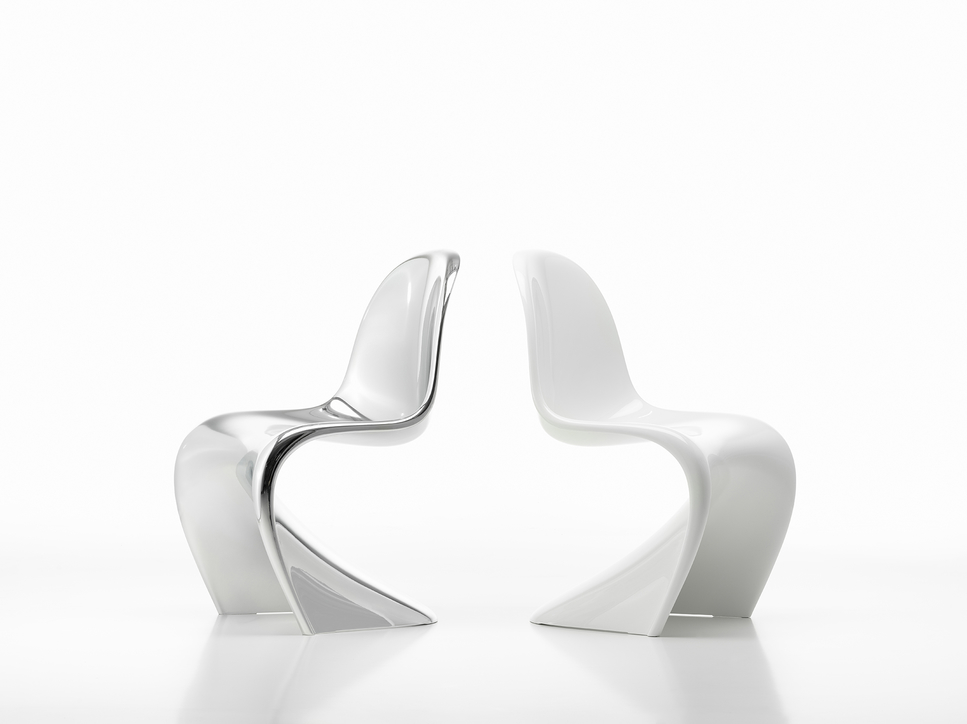Vitra marks the 50th anniversary of the Panton chair with the release of limited-edition Glow and Chrome versions.