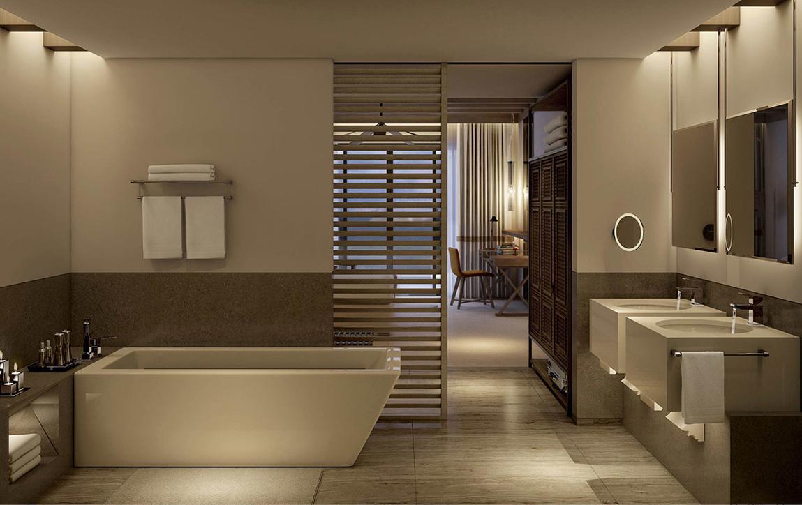 Bathroom design, Gerard Glintmeijer, GDS Glintmeijer Design Studio LLC, Najee Syriani, Rotana Hotels, Bathroom design trends, Hotel design