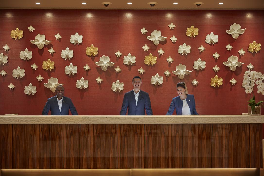 The reception of the Mandarin Oriental Jumeirah