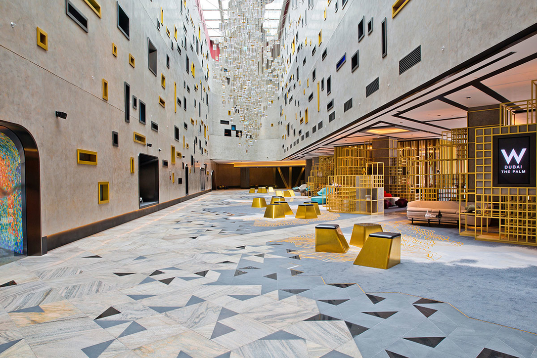 Dwp Discusses The Interior Design Behind W Dubai S Public Spaces Projects W Dubai W Hotels Hotel Design Hotel Interiors Hotels Dwp Dubai Cid