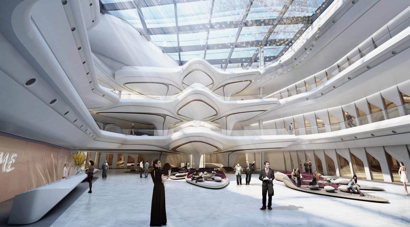 Zaha Hadid, Zaha Hadid Architects, The Opus, ME by Melia, Hotel design, Fit out, Dubai, Omniyat