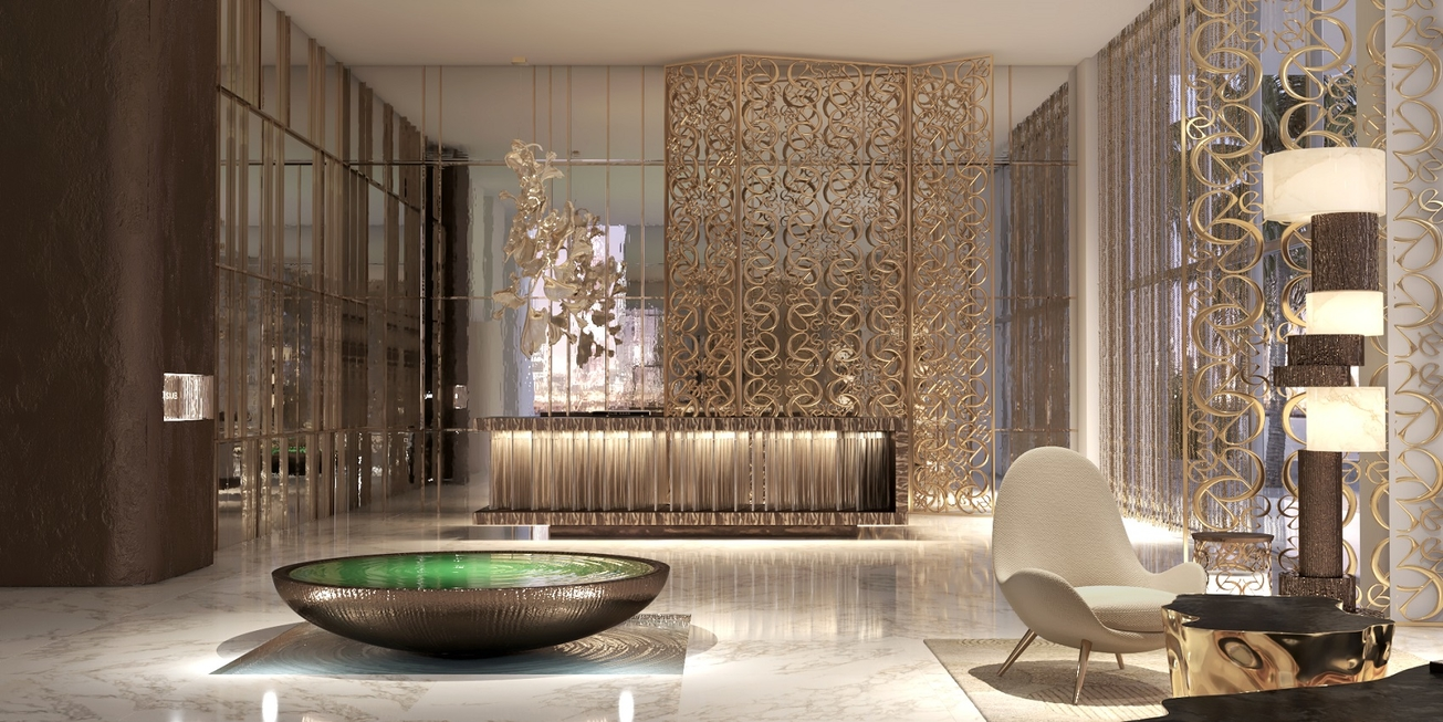 Images revealed of Elie Saab-designed interiors for Dubai's Emaar Beachfront