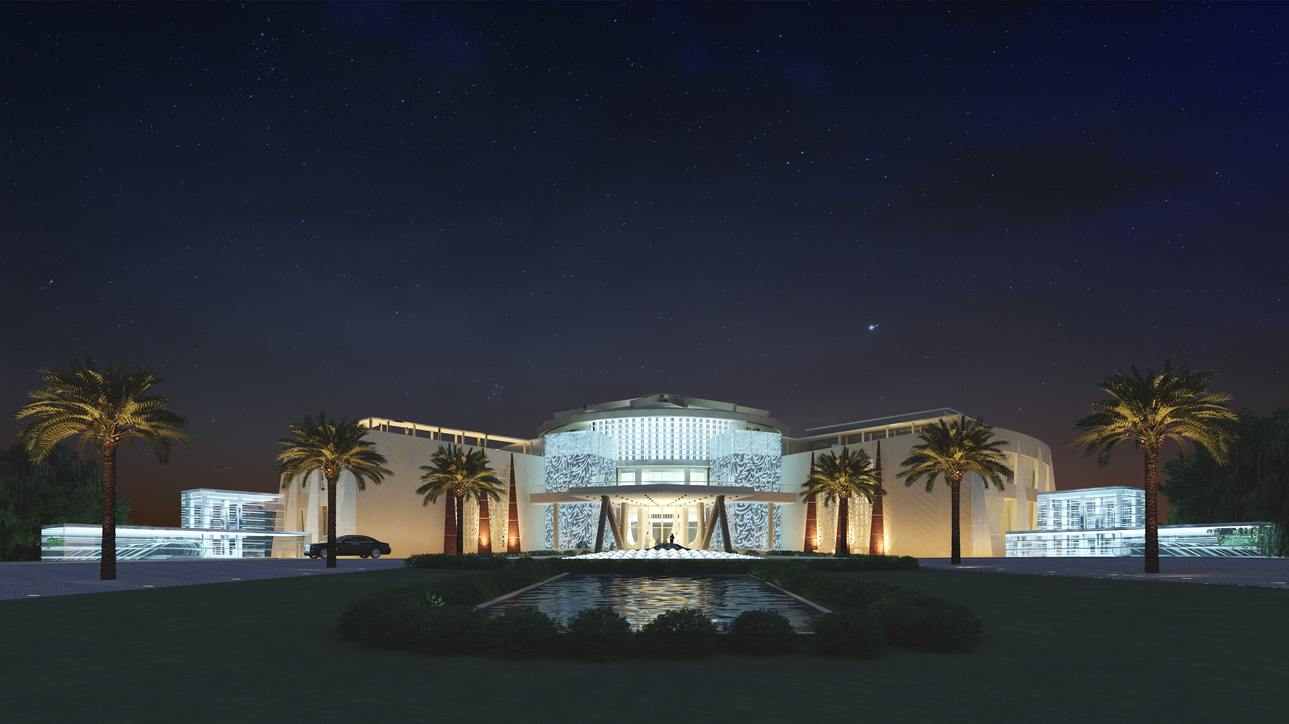 A rendering of Al Salam Palace, originally built in the 1960s.