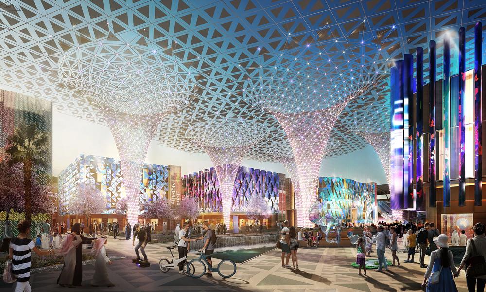The Expo 2020 Dubai site covers more than four square kilometres.