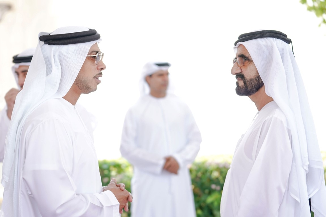 HH Sheikh Mohammed bin Rashid Al Maktoum, Vice President, Prime Minister and Ruler of Dubai with HH Sheikh Mansour bin Zayed Al Nahyan, Deputy Prime Minister, and Minister of Presidential Affairs.