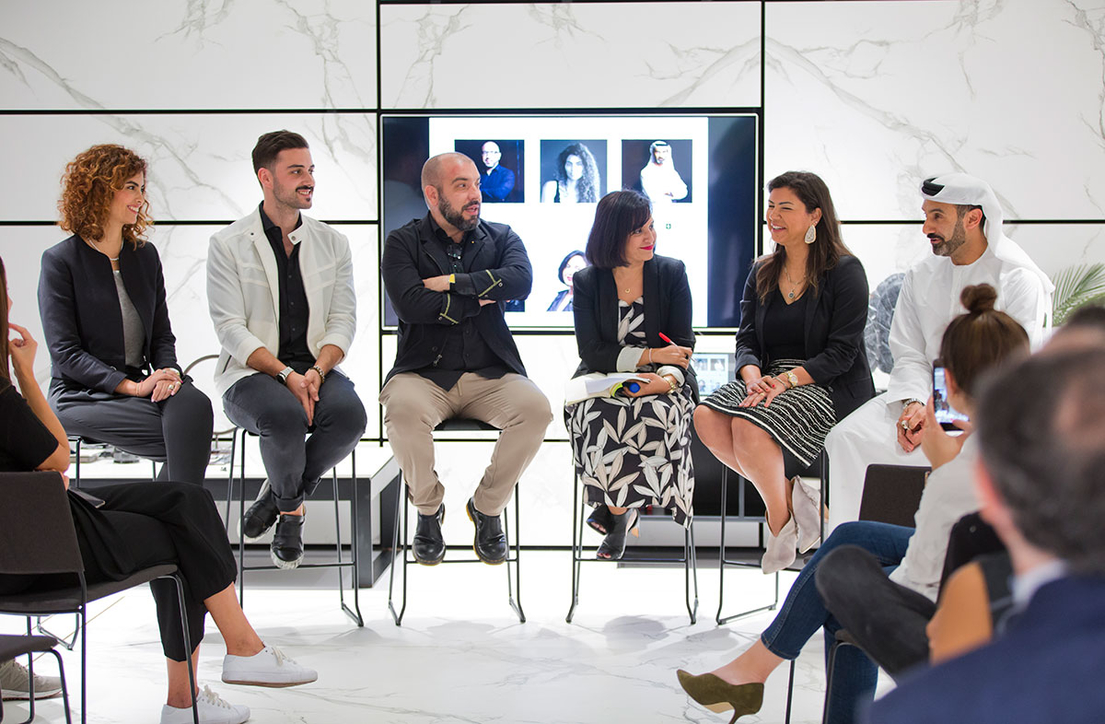 Product design, Panel discussion, Cosentino, Khalid Shafar, Juan Roldan, Talata design studio, Sergio Mendes
