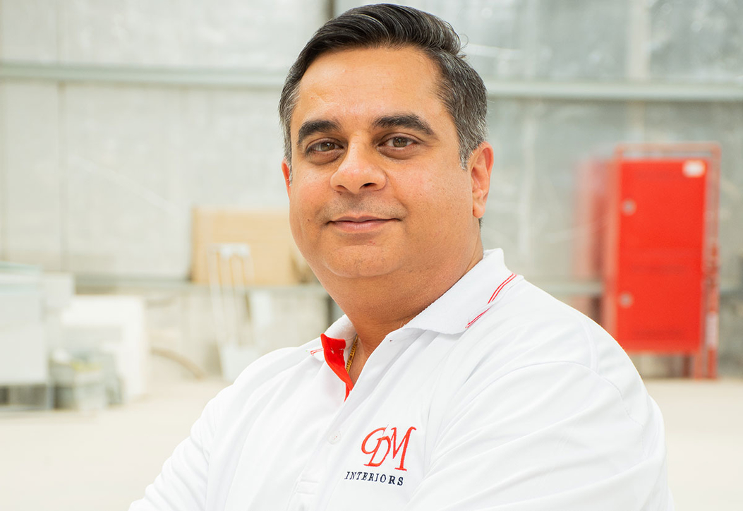 Vishal Motwani, managing director of fit-out contractor GDM Interiors, a sponsor of CID Awards 2019.