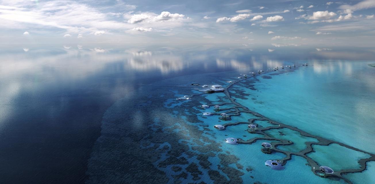 The Red Sea, Saudi Arabia Vision 2030, Construction