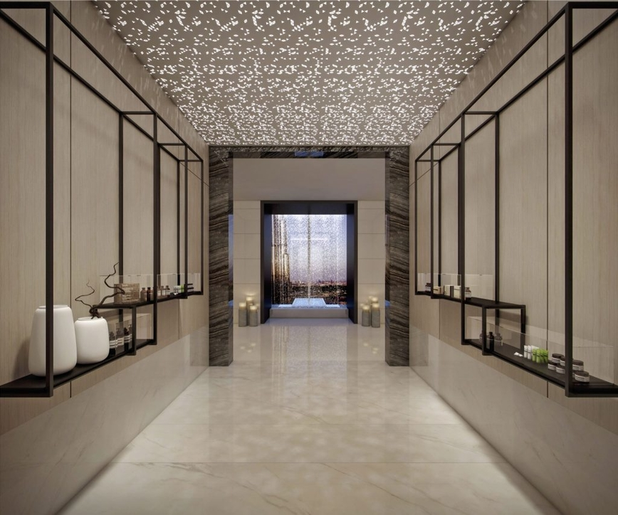 The entrance of the spa at Address Sky View