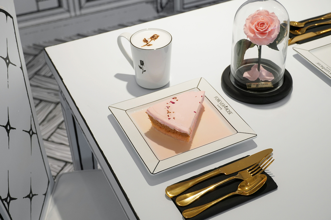 Forever Rose Café, 2D illustration, Al Maryah Island