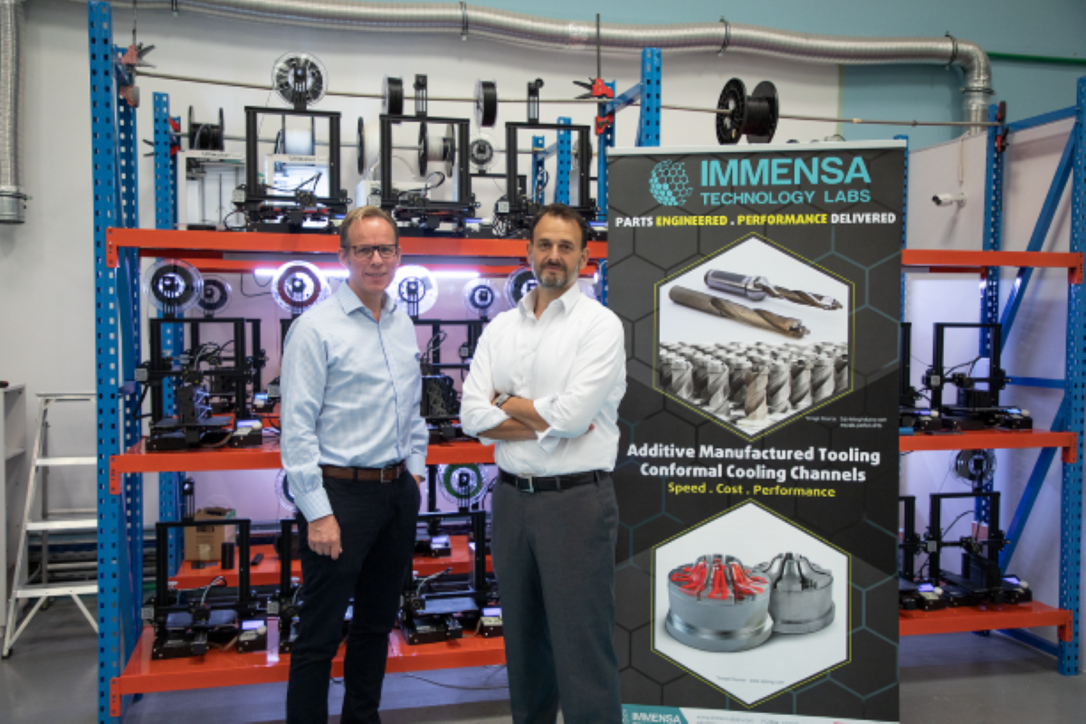 Fahmi Al Shawwa, CEO of Immensa Technology Labs and Lothar Hohmann, president of PRECISE 3DHUB