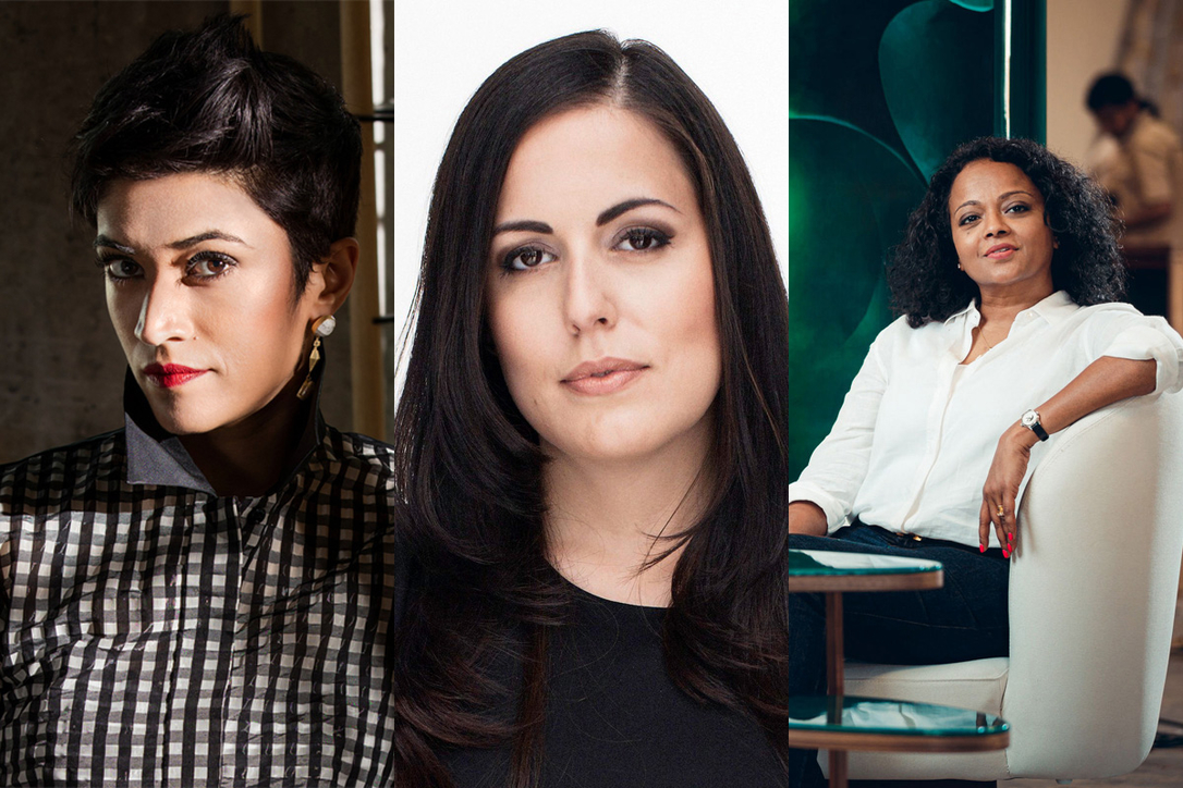 Pallavi Dean, founder and creative director - Roar; Carla Conte, creative director - Brand Creative and Melani Sabhaney, co-founder and design director - Interspace