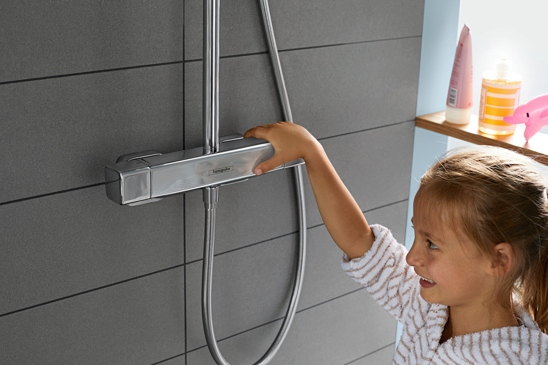 hansgrohe's CoolContact technology means the faucet never gets too hot