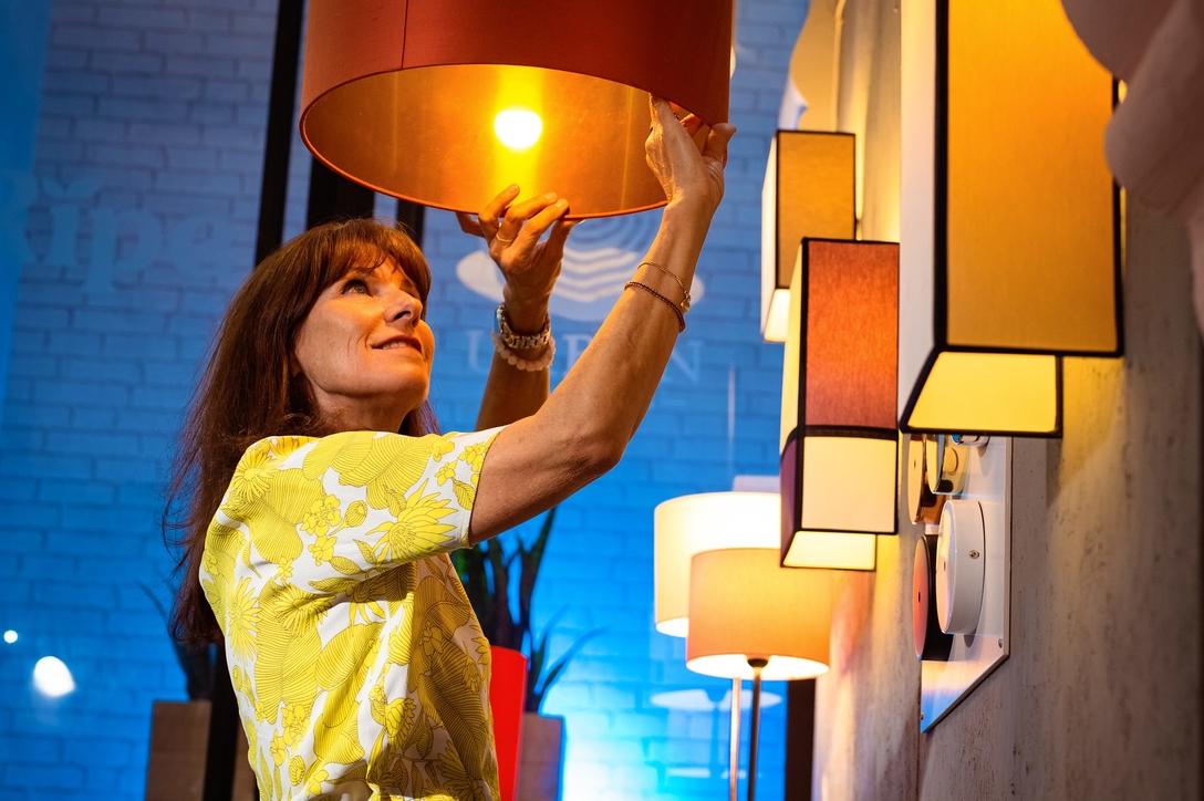Lisa Sicre in her studio