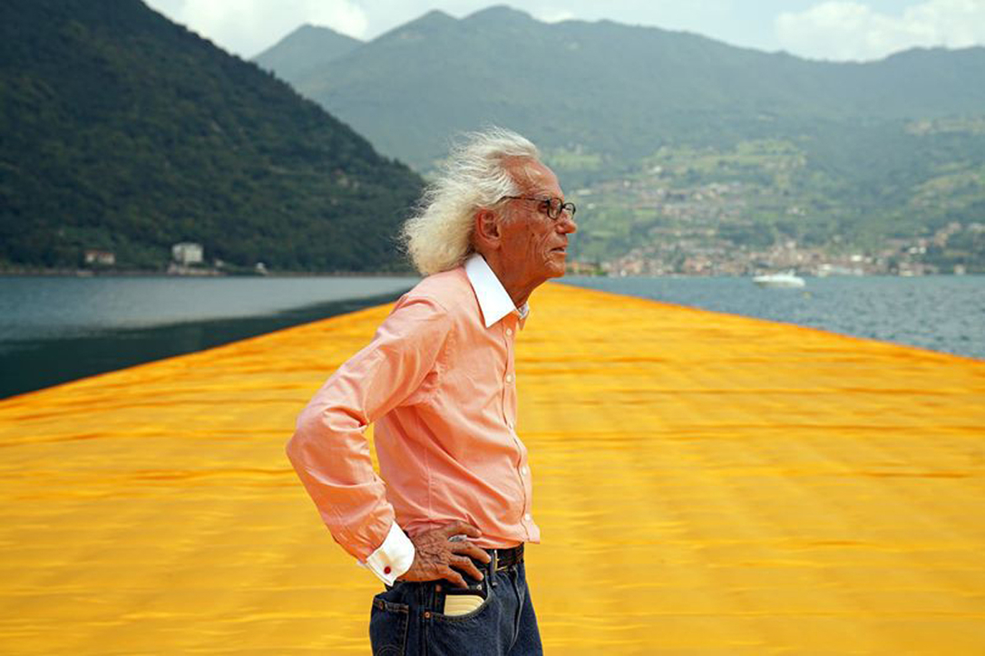 Christo and wife Jeanne-Claude planned to make a 150-metre high sculpture in the Abu Dhabi desert