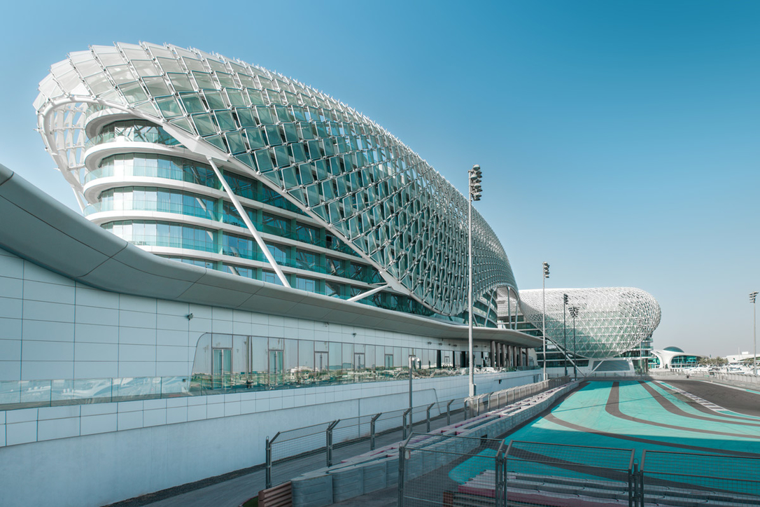W Abu Dhabi - Yas Island is the only hotel in the world to be designed over a F1 track