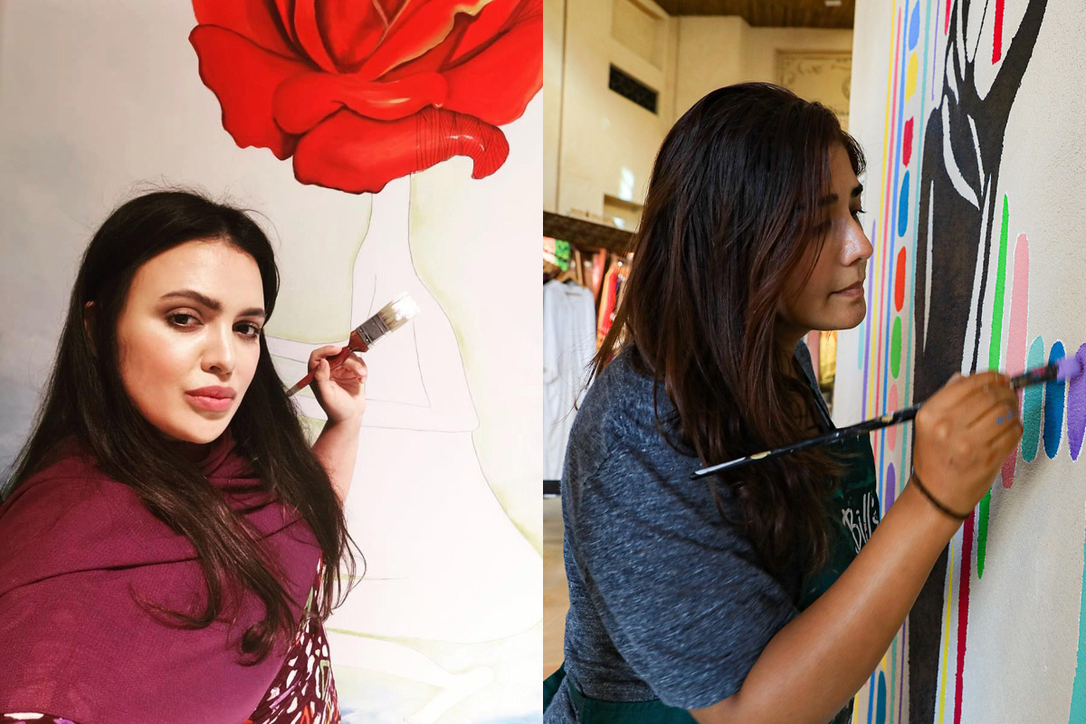 Artists Amalie Beljafla and Amrita Sethi are helping turn the Souk into a huge canvas