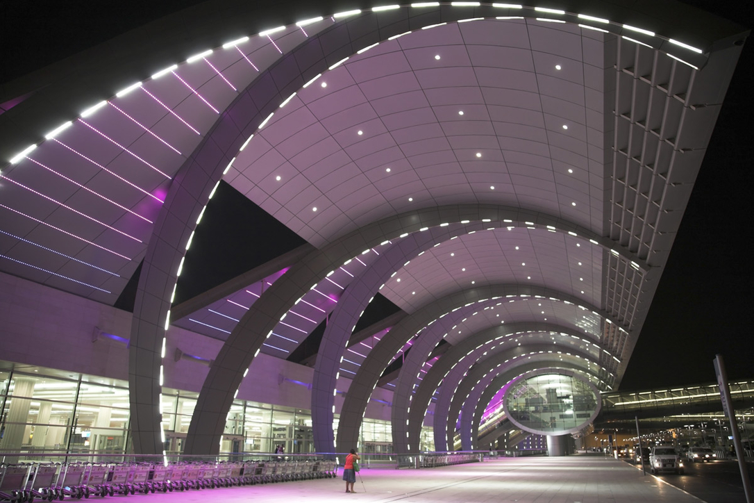 Inside DXB's Terminal 3, which was developed with Lebanese design office Dar Al-Handasah