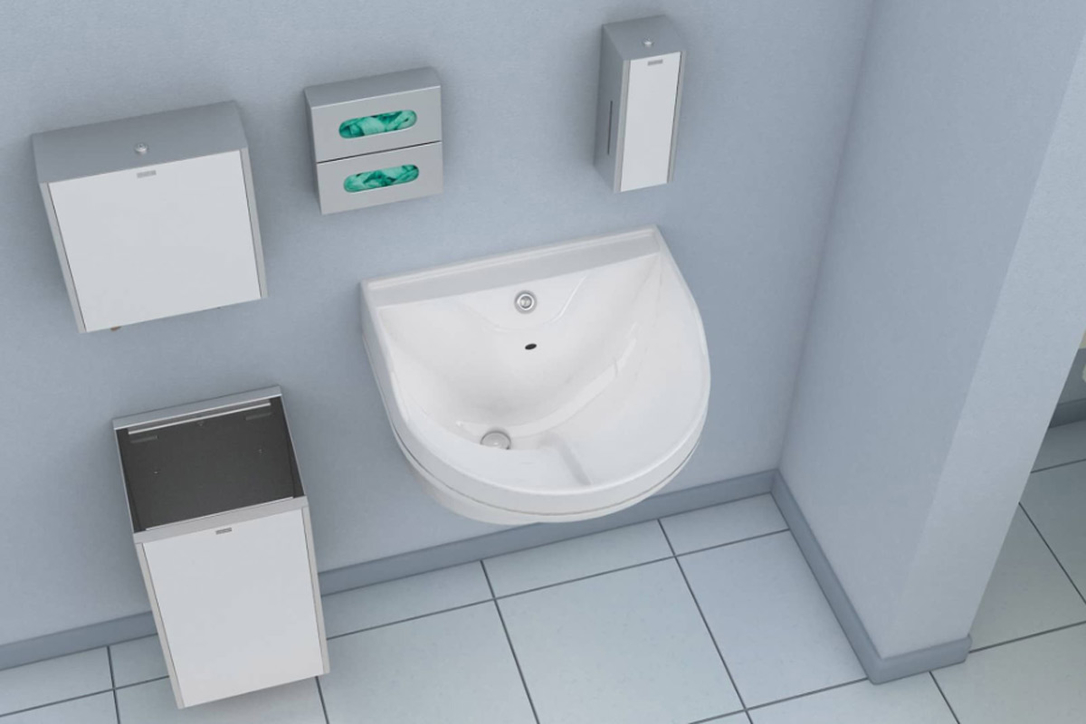The Medi-flo sink is intended for healthcare interiors that need the strictest levels of hygiene