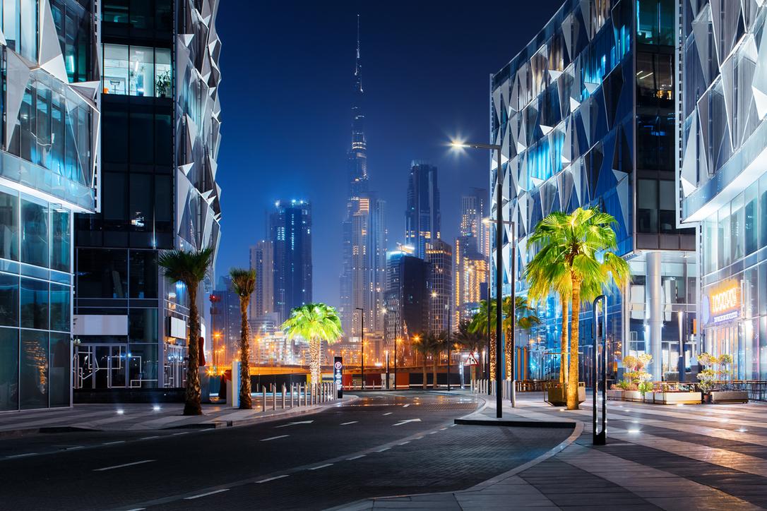 We can now enjoy Dubai Design District after dark