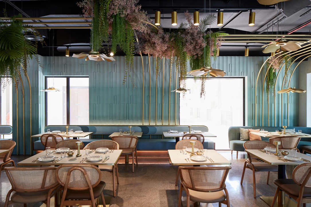 Pallavi Dean's Roar studio draws inspiration from Yarmouk River Valley for the redesign of Dubai's Mezza House restaurant