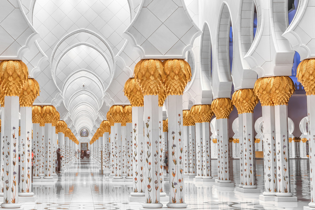The Sheikh Zayed Grand Mosque, designed by Syrian architect Yousef Abdelky