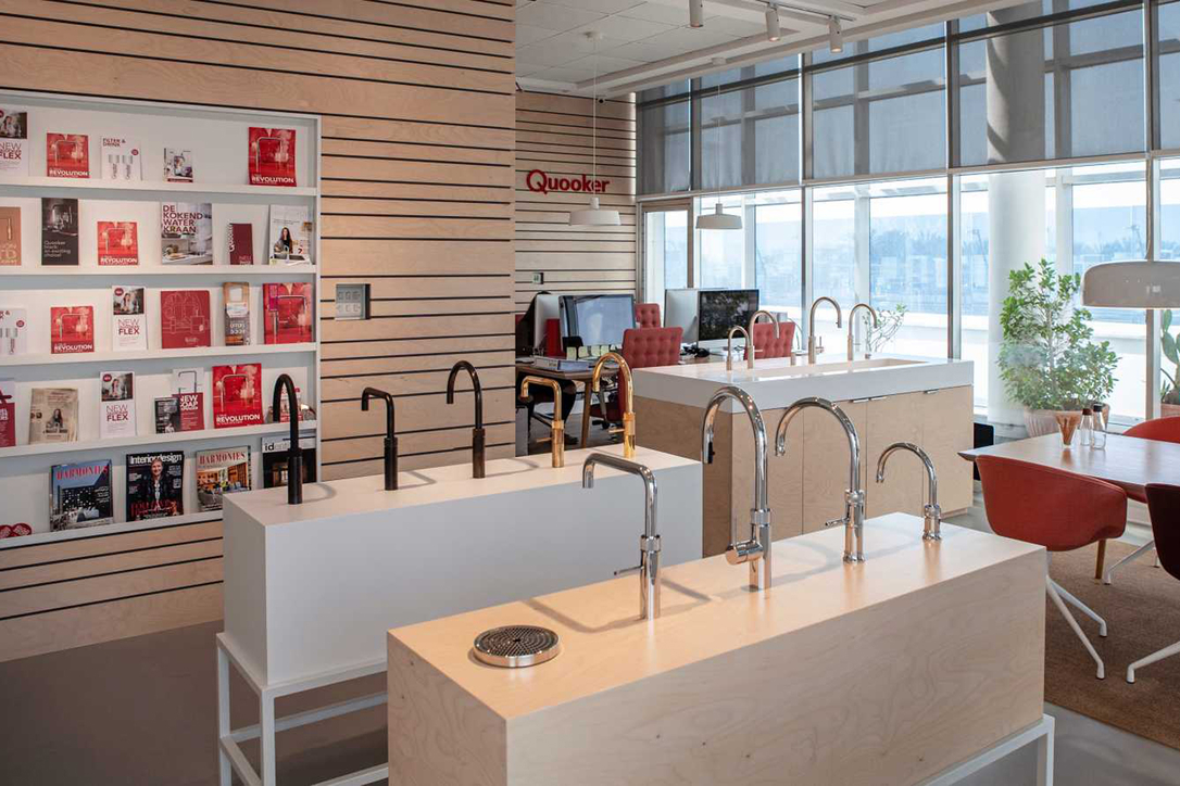 The Quooker showroom on Dubai's Sheikh Zayed Road