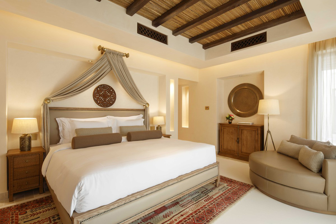 The resort's interiors are a mix between traditional and contemporary elements