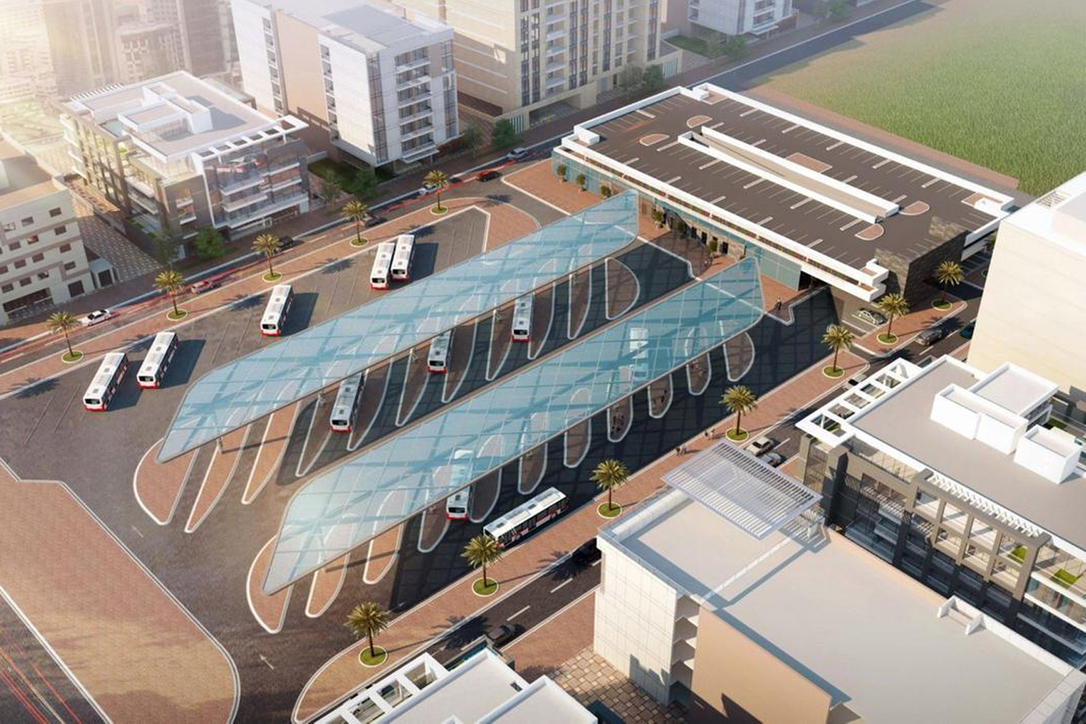 How the bus station in Satwa in going to look