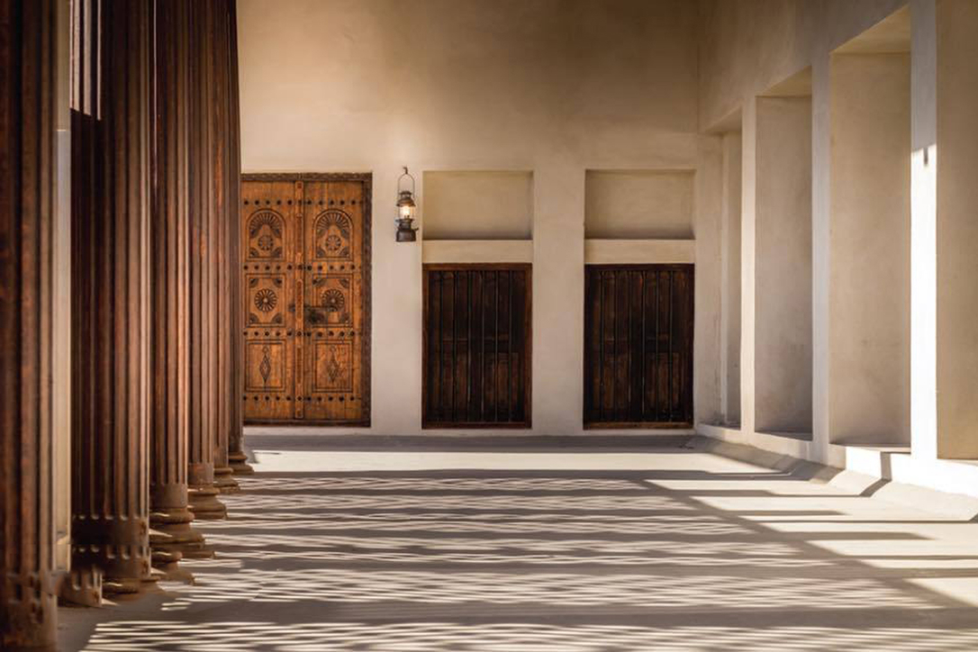 Bait Al Naboodah is architecturally distinguished by its teak columns