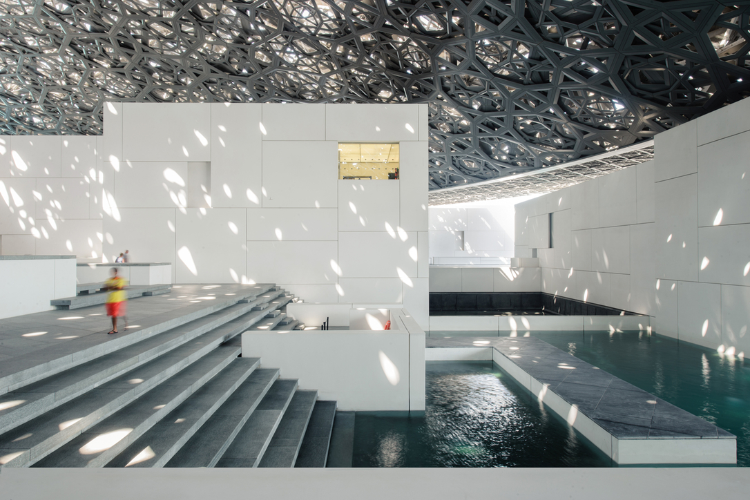 The museum was designed by the French architect Jean Nouvel
