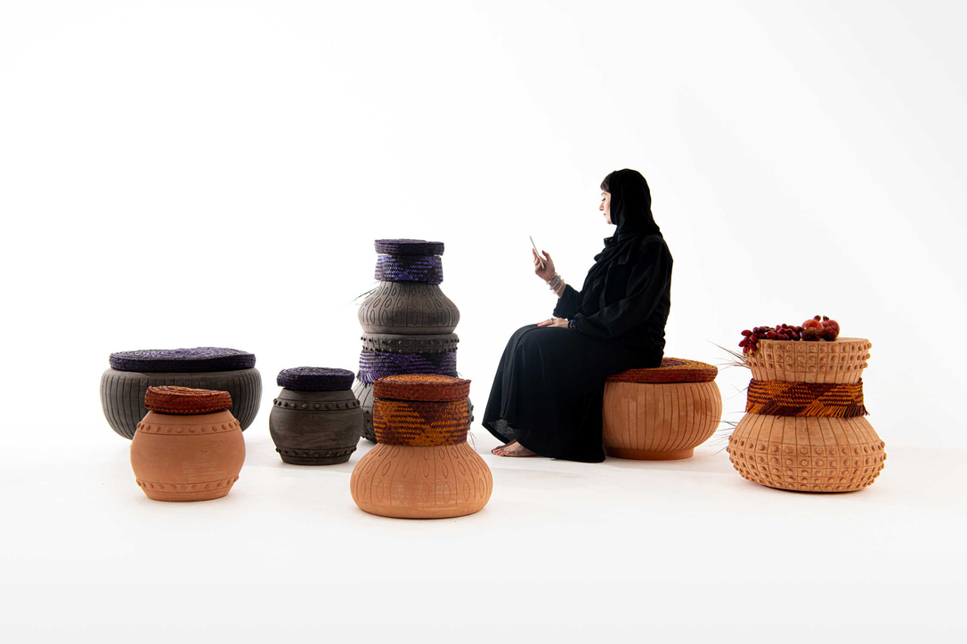 Pepa Reverter collaborated with Abdalla Almulla to create the 'Sharjah Totems'