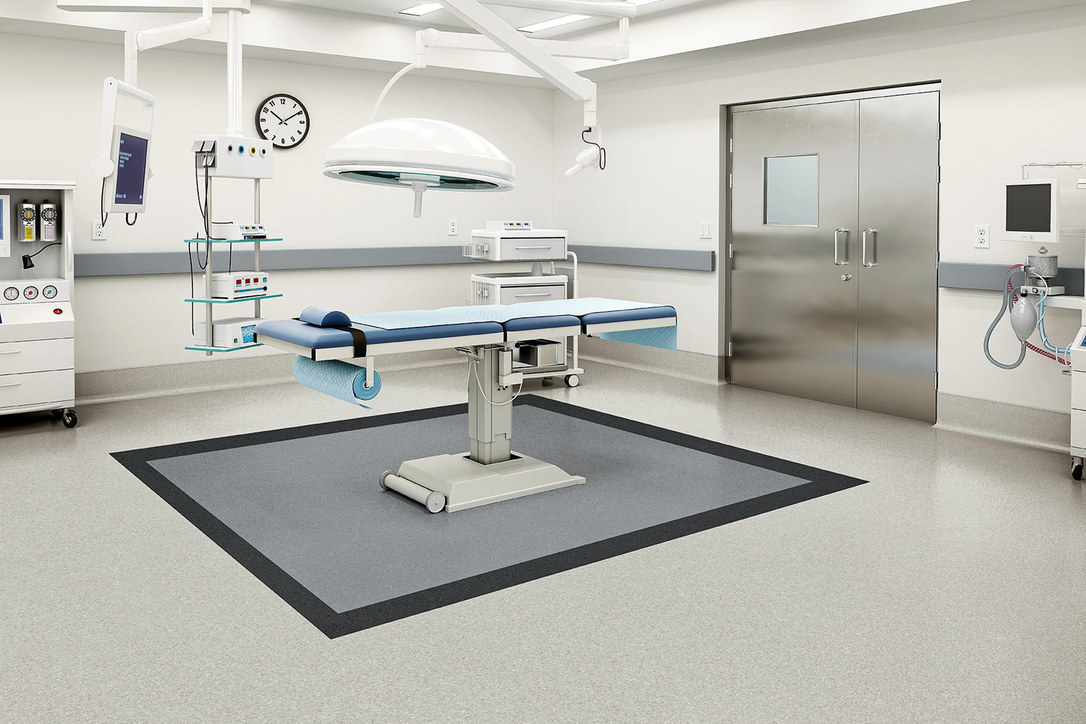 Armstrong Flooring is used in medical settings