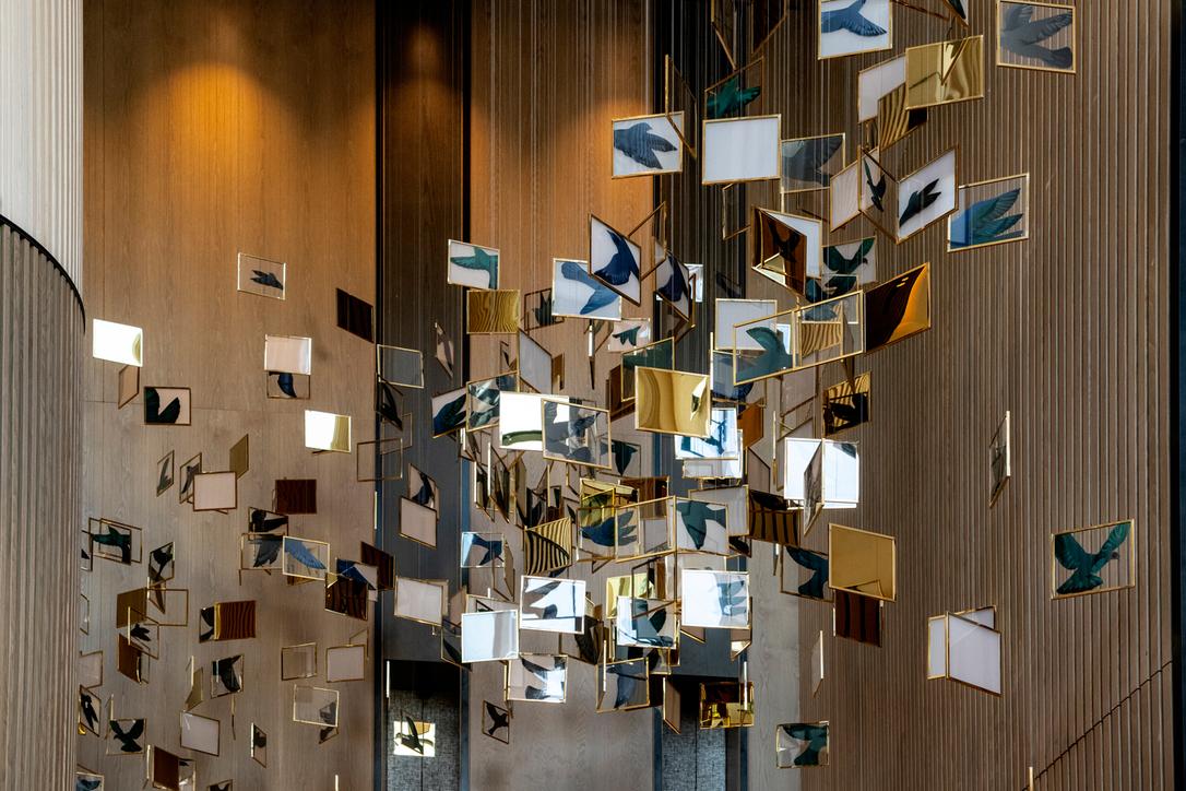 An installation in Vida Emirates Hills