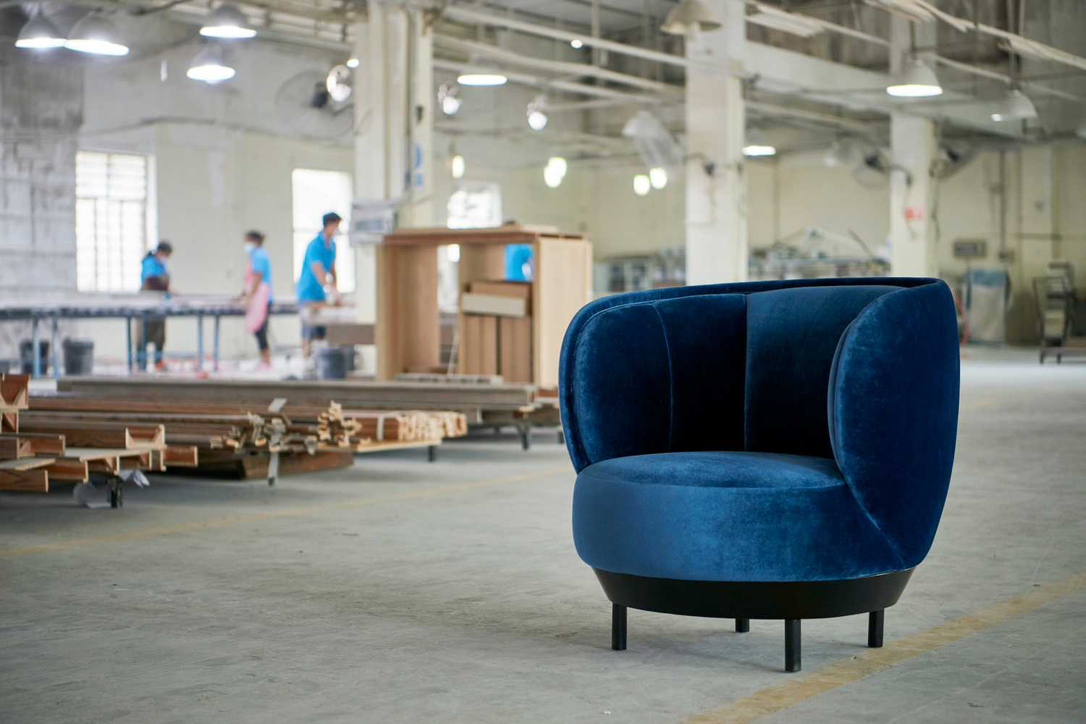A bespoke chair made in a partner factory